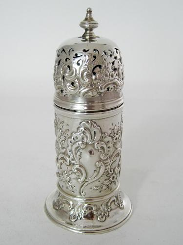 Decorative Victorian Lighthouse Shaped Silver Sugar Caster (1 of 5)