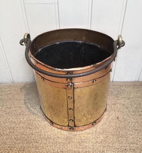 Late 19th Century Brass & Copper Bucket (1 of 9)