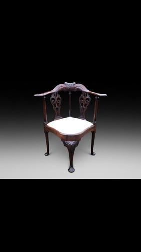 Georgian Mahogany Corner Chair (1 of 3)