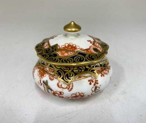 Antique Royal Crown Derby Ring Box & Cover c.1909 (1 of 6)