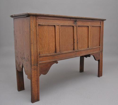 Early 18th Century Tall Oak Coffer (1 of 9)