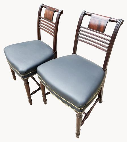 Superb Pair of Regency Side Chairs in Mahogany (1 of 6)