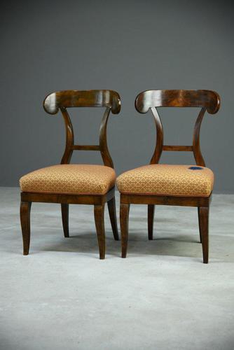 Pair of Biedermeier Side Chairs (1 of 7)