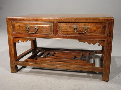 Neat Mid 19th Century Two Drawer Low Table (1 of 9)