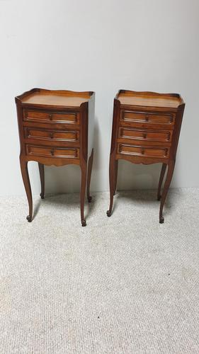 Pair of French Mahogany Bedside Chests / Cabinets (1 of 9)