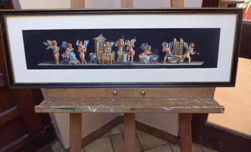 Watercolour Mischievous Putti Listed Artist E P Fenderico (1 of 14)