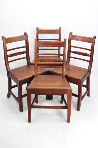 Set of 4 Victorian Mahogany Kitchen Chairs (1 of 13)