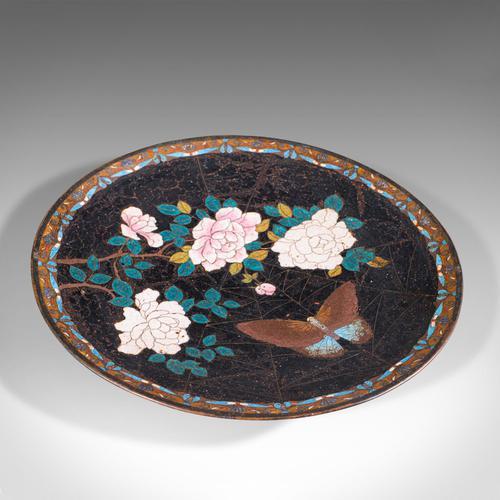 Antique Decorative Plate, Japanese, Cloisonne, Fruit, Serving Dish, Victorian (1 of 9)