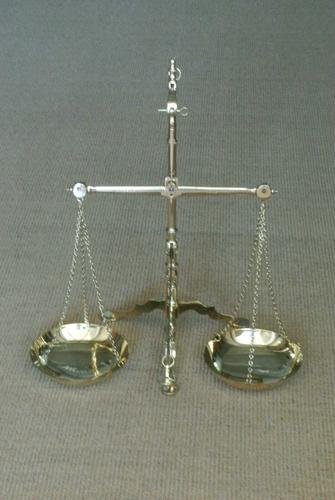 Fine Large 19th Century Brass Beam Scales Jewellers Gold Bank Scales Doyle & Son (1 of 12)