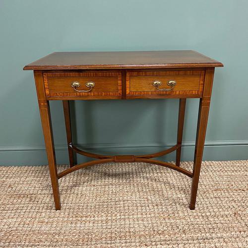 Elegant Edwardian Mahogany Antique Writing Table (1 of 7)