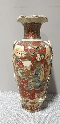 Huge Tube Work Satsuma Vase (1 of 7)