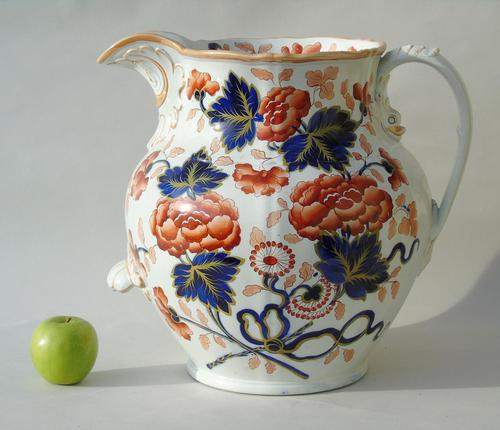 Antique Very Large Staffordshire Stone China Jug (1 of 12)