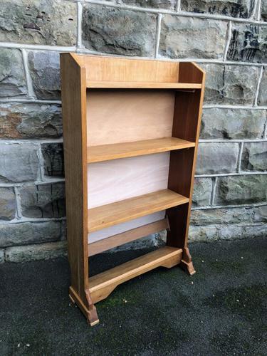 Antique Light Oak Open Bookcase (1 of 10)
