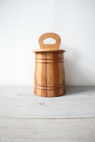 Scottish Vernacular Staved / Banded / Lidded Salt Box c.1890-1920 (1 of 29)