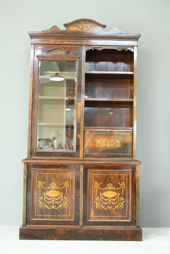 Edwardian Inlaid Rosewood Bookcase (1 of 12)