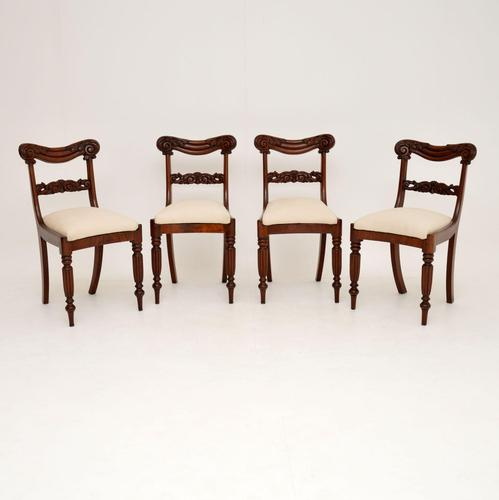 Set of 4 Antique William IV Mahogany Dining Chairs (1 of 10)
