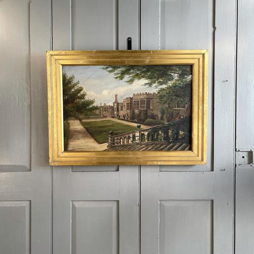 Antique Oil Painting Study of Haddon Hall Derbyshire Signed A E Richmond 1882 (1 of 9)