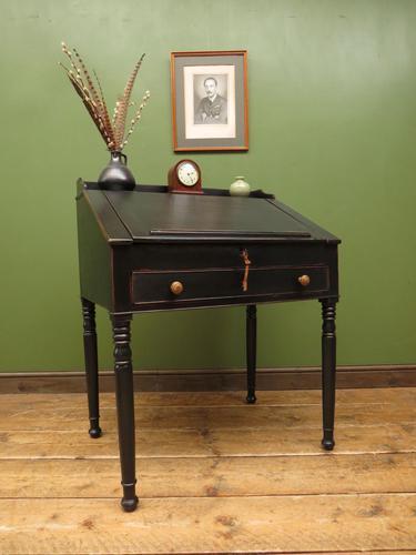 Antique Painted Black Clerks Desk (1 of 17)