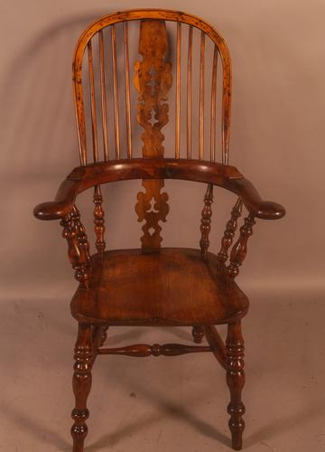 Very Good 19th Century Broad Arm Yew Windsor Chair (1 of 10)