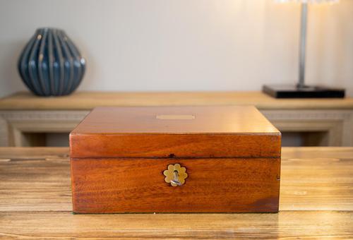 Georgian Mahogany Table Box 1810 (1 of 8)