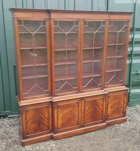 Quality Mahogany Breakfront Library Bookcase made by G T Rackstraw (1 of 6)
