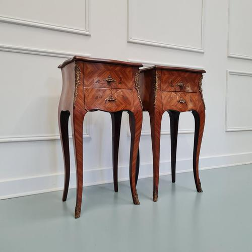 French Kingwood Bedside Tables c.1930 (1 of 6)