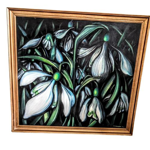Large Framed Oil on Canvas Still Life Painting by Mark Ramsden 'Signed' (1 of 6)