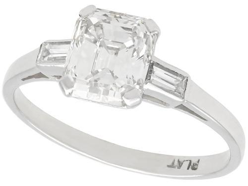 1.11ct Diamond & Platinum Solitaire Ring c.1935 (1 of 9)