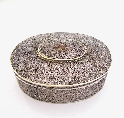 Very Rare 18th Century Indian Filigree Silver Padan Box Karimnagar c.1760 (1 of 11)