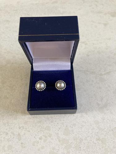Georg Jensen Danish Silver Earrings (1 of 4)