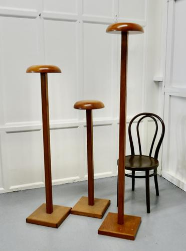 Set of 3 Very High Taylor's Wooden Fabric Display Shop Stands (1 of 7)