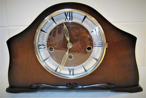 Scarce 1938 German Westminster Chiming Mantel Clock with Platform Escapement. (1 of 5)