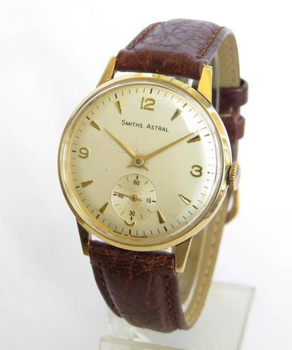 Gents 9ct Gold Smiths Astral Wrist Watch (1 of 5)