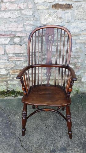 Wonderful Example of Handsome Yew High Back Windsor Chair (1 of 8)