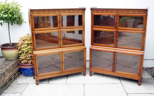 Pair of art deco minty sectional bookcases (1 of 14)