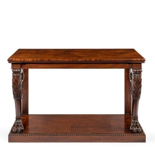 Regency Mahogany Console Table (1 of 8)