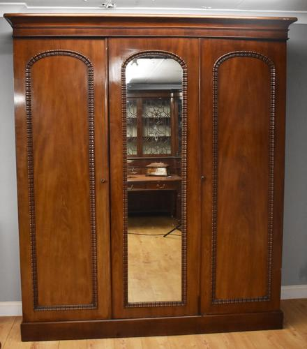 Victorian Mahogany Three Door Wardrobe (1 of 11)