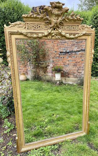 Large gilt mirror with swags (1 of 6)