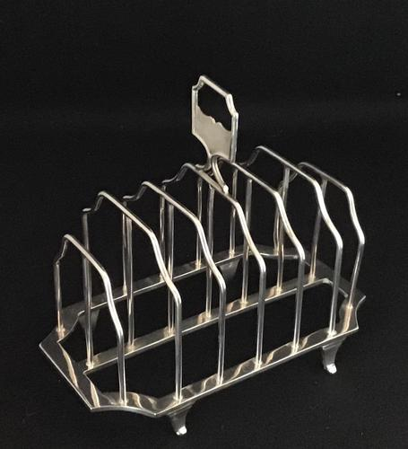 Victorian Silver Plated 7 Bar Toast Rack. (1 of 4)