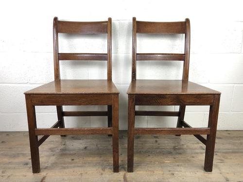 Pair of Antique Welsh Oak Farmhouse Chairs (1 of 17)