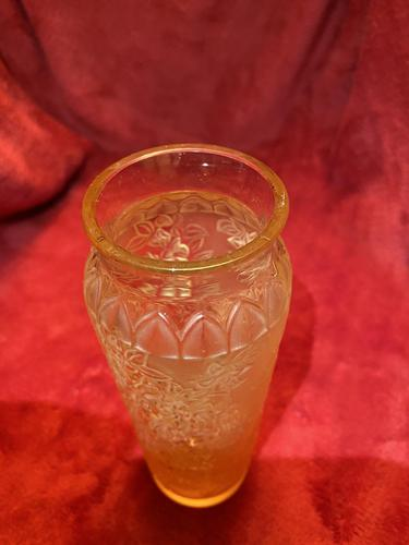 """Lalique""""Bourgainvillea"""" patten vase in Amber glass (1 of 5)"""