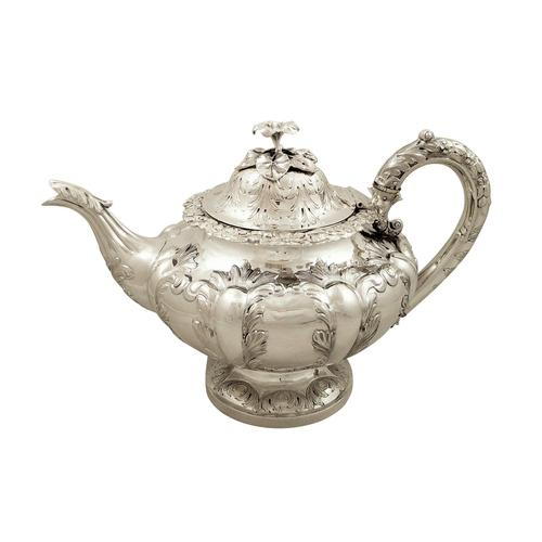 Antique Victorian Sterling Silver Teapot 1844 (1 of 11)