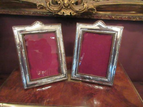 Pair of George V Period Silver Photo Frames (1 of 8)