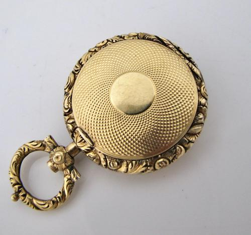 Rare Gold Georgian Novelty Mourning Vinaigrette c.1820 (1 of 6)