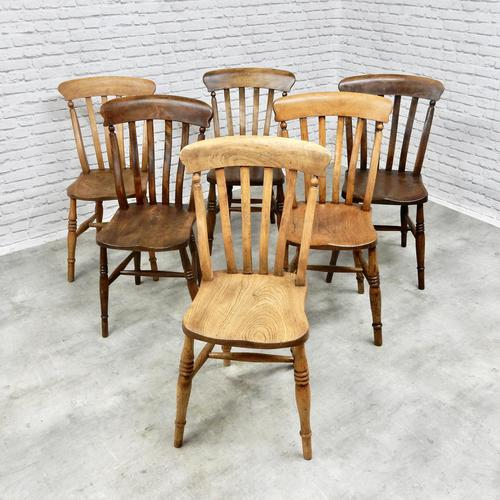 Mixed Set of 6 Windsor Kitchen Chairs (1 of 7)
