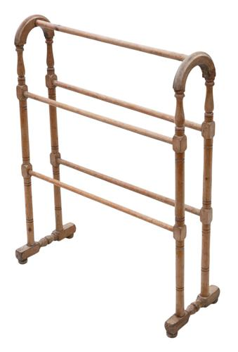 Victorian Pine Towel Rail Stand (1 of 5)