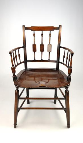 An Unusual 19th Century Country Armchair (1 of 9)