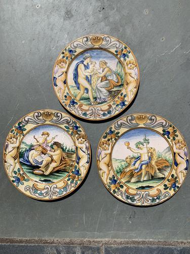 Trio of Urbino Plates (1 of 9)