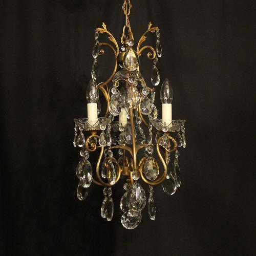 French Gilded Birdcage 4 Light Antique Chandelier (1 of 10)