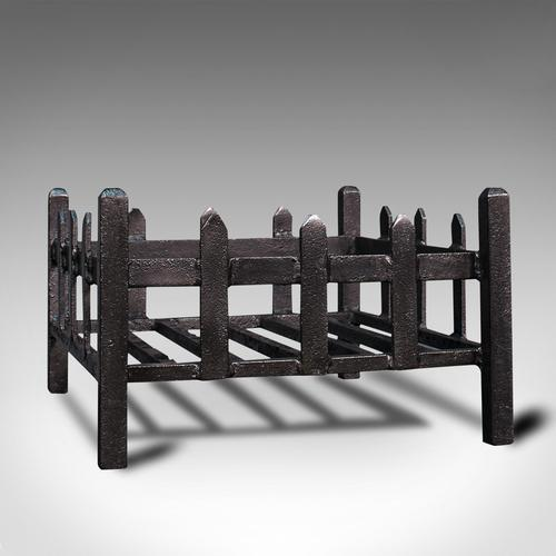 Antique Fireplace Grate, English, Cast Iron, Fire Basket, Late Victorian c.1900 (1 of 10)